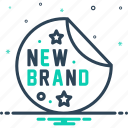 brand, brandnew, new, recent, tag icon