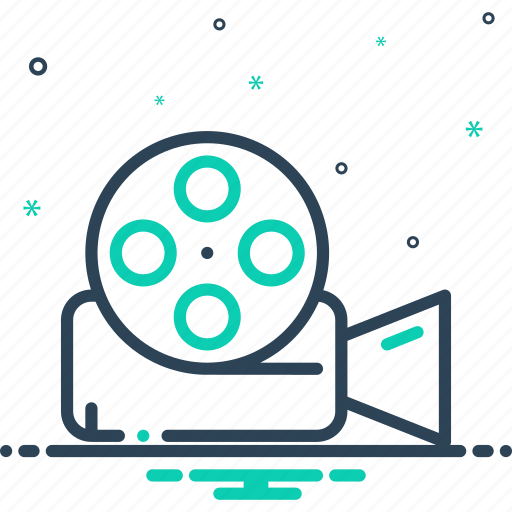 entertainment, film, reel, technology, video, video reel, videocamera icon
