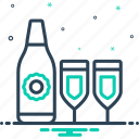 glass, win, tipple, quencher, beverage, drink, bottle icon