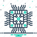 circuit boards, hardware, motherboard, storage, technology icon