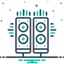 electrical, loudspeaker, music, music system, sound box, system icon