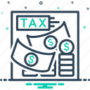 financial, invest, payment, tax, taxation icon