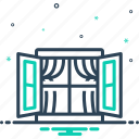 skylight, spiracle, window icon