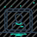 password, protection, user, username icon