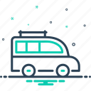 bus, carriage, conveyance, mini, transport, van, vehicle icon