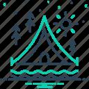 awning, camps, holiday, tarpaulin, tent, vacation icon