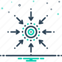central, centrality, connect, linked, technology icon