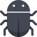 bug, danger, hazard, insect, problem, risk, virus icon