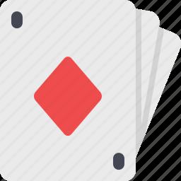 cards, casino, diamond, gamble, gambling, game, poker icon