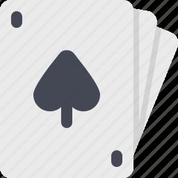 cards, casino, gamble, gambling, game, pocker, spade icon
