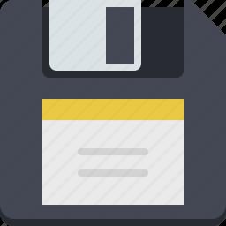 data, data storage, disk, diskette, floppy, guardar, save, storage icon