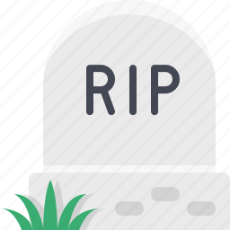 dead, grave, graveyard, halloween, rip, tomb, tombstone icon