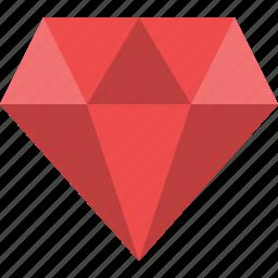 diamond, gem, jewel, jewelry, precious, ruby, treasure icon