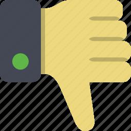 disaprove, failure, thumb, thumb down icon
