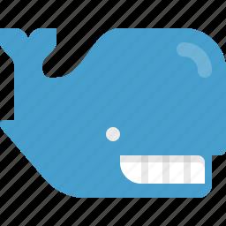 creature, fish, mammal, marine, ocean, sea, whale icon