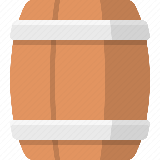 ale, barrel, delivery, rum, shipment, transport, wooden icon