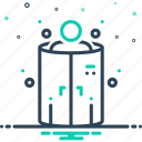 chamber, cryotherapy, freezing, medical, steam, temperature icon