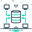 data, data warehouse, supply, technology, warehouse icon