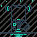 answering, dialtone, ring, telecommunication, telephone icon