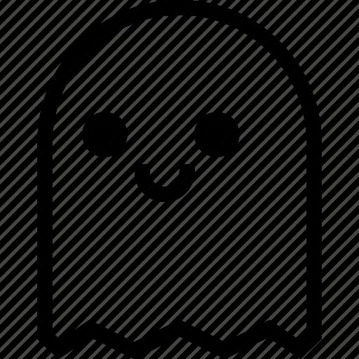 Character, cute, ghost, halloween, phantom, smile, specter ...