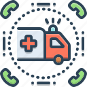 ambulance, emergencies, exigency, necessity, paramedic, rescue, transportation icon