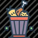 food, food waste, garbage, peelings, scraps, vegetables, waste icon