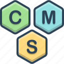 cms, content, management, system icon