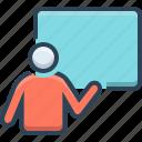 beta, demo, demonstration, presentation, showing icon