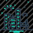 architecture, buildings, cityscape, downtown, jacksonville, skyline icon