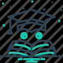 bachelor, cap, degree, education, graduate, learning, teaching icon