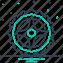 circle, motorycle, steering, transportation, wheel icon
