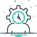 age, clock, cycle, degenerate, life cycle, lifespan, people icon