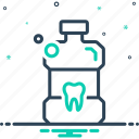antiseptic, bottle, cleanliness, mouthwash, teeth icon