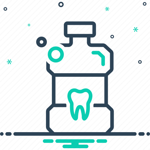 Antiseptic, bottle, cleanliness, mouthwash, teeth icon - Download on Iconfinder