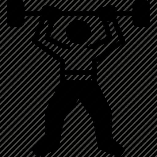 exercise, fitness, gymnastics, robustness, workout icon