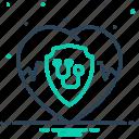 health, health insurance, heart, insurance, life, protection, stethoscope icon