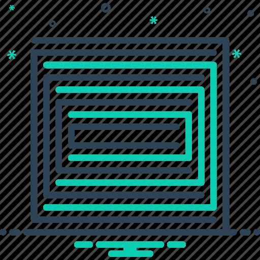 line, linear, pattern icon
