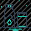 bottle, calcium, fresh, glass, healthy, milk, nutrient icon