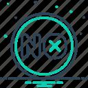 ban, moratorium, no, nope, not, sanction icon