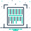barcode, digital, machine, scanner, technology icon