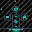 app, smartphone, technology, video icon