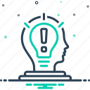 consideration, development, idea, organization, project, scheme, skills icon