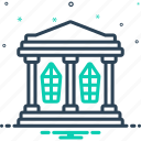 architecture, build, building, construction, hall, home, house icon