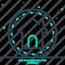 dwelling, habitation, home, house, main, premises, residence