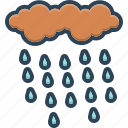 wet, drizzle, precipitation, rain, weather, raindrops, rainfall icon