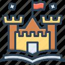 citadel, fable, narrative, novel, saga, story, tale icon