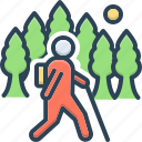migratory, nomad, peregrinate, rove, stroller, tramp, wander icon
