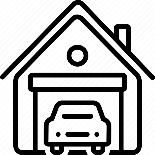 automotive, garage, motorcycle, parking, service, warehouse, workshop icon