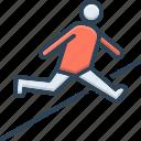 athletic, hop, jump, leap, obstacle race, prance, spurt icon