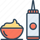 container, dessert, flavor, jar, ketchup, sauce, spice icon